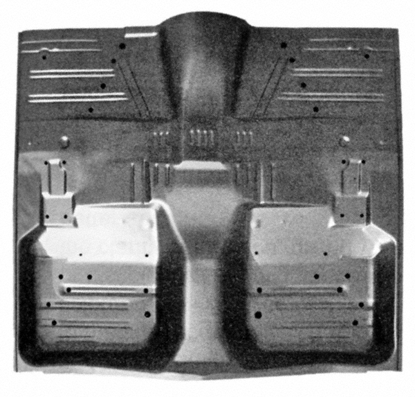 1959 Floor Pan Without Rear Seat Section Front