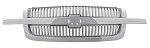 2004 Grille, Vertical Bar Design, Chrome, CHEVROLET Silverado Pickup