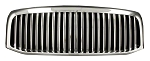 2008 Grille, Vertical Bar Design, Chrome, DODGE Ram