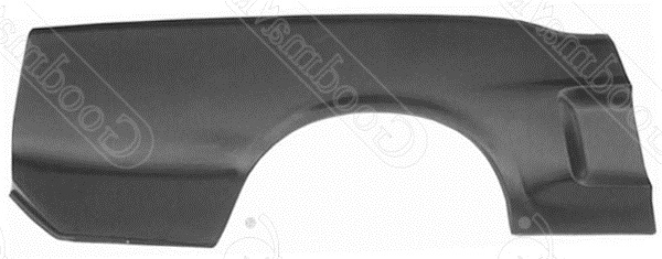 Quarter Panel, Outer Skin, Rear, Right, 1967 1968 Ford Mustang