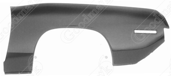 Quarter Panel, Outer Skin, Rear, Left, 1970 1971 Plymouth Barracuda
