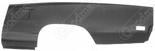 Quarter Panel, Outer Skin, Rear, Left, 1970 Plymouth Belvedere, Satellite, Roadrunner, GTX