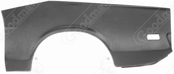 Quarter Panel, Outer Skin, Rear, Left, 1971 1972 1973 Ford Mustang