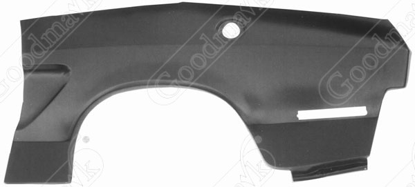 Quarter Panel, Outer Skin, Rear, Left, 1974 1975 1976 1977 1978 Ford Mustang II