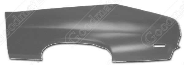 Quarter Panel, Outer Skin, Rear, Left, 1970 1971 1972 Chevrolet Nova, Pontiac Ventura II
