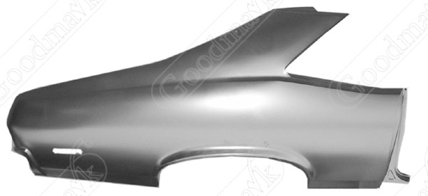 Quarter Panel, Rear, Right, 1970 1971 1972 Chevrolet Nova, Pontiac Ventura II