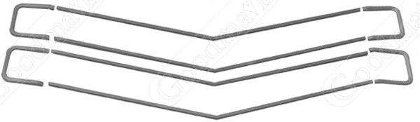 Grille Moulding Set, SS, 1970 Chevrolet Chevelle