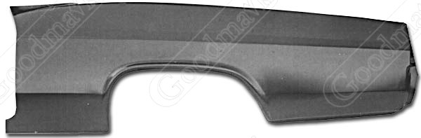 Quarter Panel, Outer Skin, Rear, Left, 1965 Chevrolet Impala, Biscayne