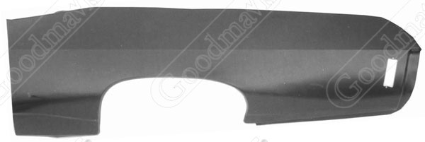Quarter Panel, Outer Skin, Rear, Left, 1969 1970 Chevrolet Impala, Biscayne