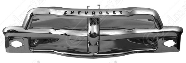 Grille Assembly, Chrome, 1954 1955 1st Series Chevrolet Pickup Truck