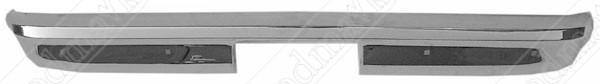 Rear Bumper, Stepside, USA Chrome, 1967-1987 Chevrolet GMC Pickup Truck