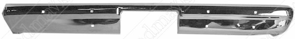 Rear Bumper, Chrome, 1981 1982 1983 1984 1985 1986 1987 1988 1989 1990 1991 Chevrolet GMC Pickup Truck
