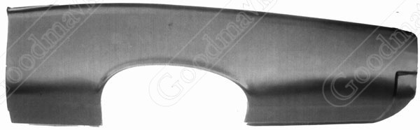 Quarter Panel, Outer Skin, Rear, Left, 1966 1967 Pontiac Tempest, Lemans, GTO