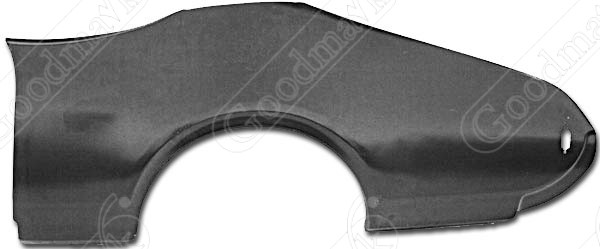 Quarter Panel, Outer Skin, Rear, Left, 1968 1969 Oldsmobile Cutlass, F-85, 442