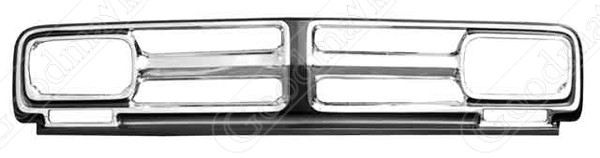 Grille Frame, Front, Chrome/Painted, 1971 1972 GMC Pickup Truck