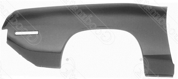 Quarter Panel, Outer Skin, Rear, Right, 1970 1971 Plymouth Barracuda