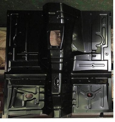 Floor Pan, Full, Front, 1979-1993 Ford Mustang, Mercury Capri