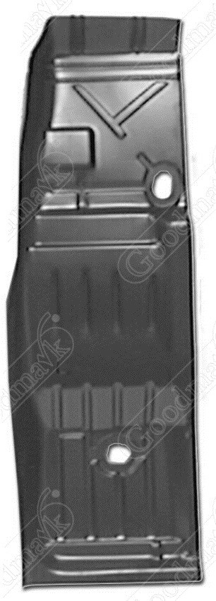 Floor Pan, Half, Right, 1968 1969 1970 1971 1972 1973 1974 Chevrolet Nova, Buick Apollo, Oldsmobile Omega, Pontiac Ventura, Ventura II