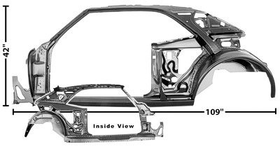 Quarter/Door Frame Assembly, Left, 1967 Chevrolet Camaro, Pontiac Firebird, Trans Am
