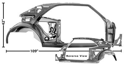 Quarter/Door Frame Assembly, Right, 1967 Chevrolet Camaro, Pontiac Firebird, Trans Am