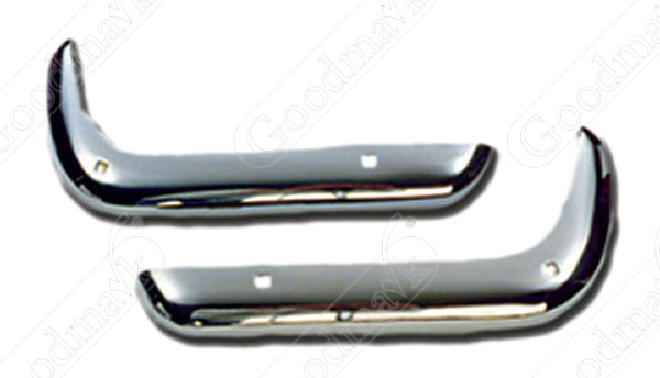 Front Bumper Set, RS, Left and Right, USA Chrome, 1970 1971 1972 1973 Chevrolet Camaro